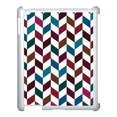 Zigzag Chevron Pattern Blue Brown Apple Ipad 3/4 Case (white)