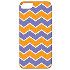 Zigzag Chevron Pattern Blue Orange Apple Iphone 5 Classic Hardshell Case