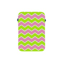 Zigzag Chevron Pattern Green Pink Apple Ipad Mini Protective Soft Cases