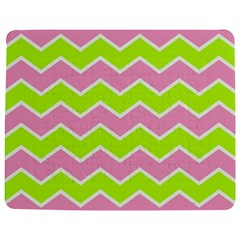 Zigzag Chevron Pattern Green Pink Jigsaw Puzzle Photo Stand (rectangular)