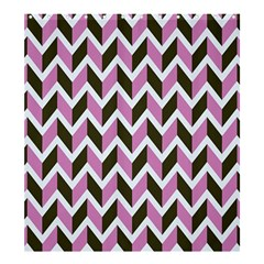 Zigzag Chevron Pattern Pink Brown Shower Curtain 66  X 72  (large)