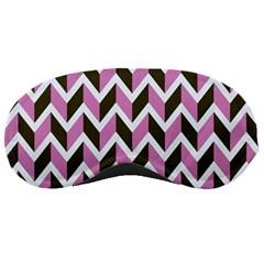 Zigzag Chevron Pattern Pink Brown Sleeping Masks