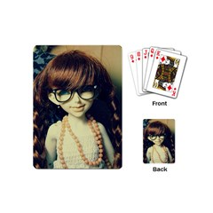 Red Braids Girl Old Playing Cards (mini)