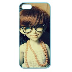 Red Braids Girl Old Apple Seamless Iphone 5 Case (color)