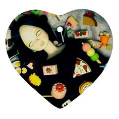 Food Heart Ornament (two Sides) by snowwhitegirl