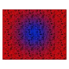 Red Music Blue Moon Rectangular Jigsaw Puzzl