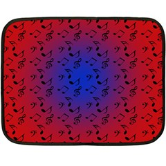 Red Music Blue Moon Fleece Blanket (mini)