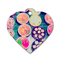 Ramen And Sushi Dog Tag Heart (one Side)