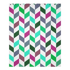 Zigzag Chevron Pattern Aqua Purple Shower Curtain 60  X 72  (medium)