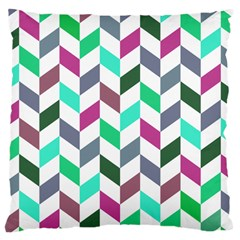 Zigzag Chevron Pattern Aqua Purple Large Cushion Case (two Sides)