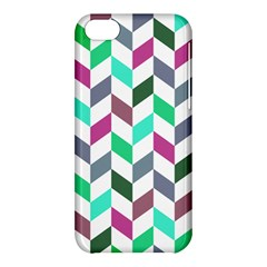Zigzag Chevron Pattern Aqua Purple Apple Iphone 5c Hardshell Case