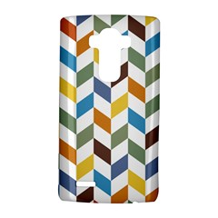 Zigzag Chevron Pattern Orange Blue Lg