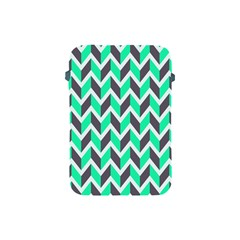 Zigzag Chevron Pattern Green Grey Apple Ipad Mini Protective Soft Cases