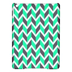 Zigzag Chevron Pattern Green Grey Ipad Air Hardshell Cases by snowwhitegirl