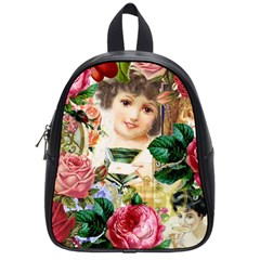 Little Girl Victorian Collage School Bag (small)