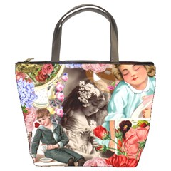 Victorian Collage Bucket Bag