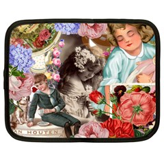 Victorian Collage Netbook Case (xxl) by snowwhitegirl