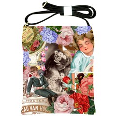 Victorian Collage Shoulder Sling Bag