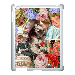 Victorian Collage Apple Ipad 3/4 Case (white)
