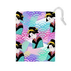 Japanese Abstract Drawstring Pouch (large)