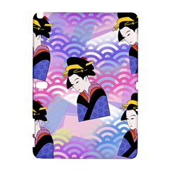 Japanese Abstract Blue Samsung Galaxy Note 10 1 (p600) Hardshell Case