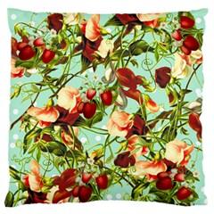 Fruit Blossom Large Flano Cushion Case (one Side)