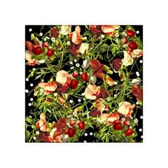 Fruit Blossom Black Acrylic Tangram Puzzle (4  X 4 )