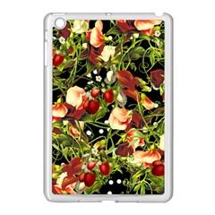 Fruit Blossom Black Apple Ipad Mini Case (white)