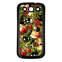 Fruit Blossom Black Samsung Galaxy S3 Back Case (black)