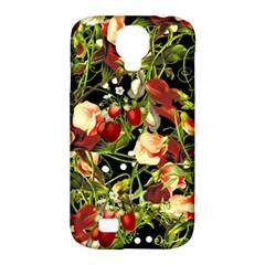 Fruit Blossom Black Samsung Galaxy S4 Classic Hardshell Case (pc+silicone)