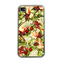 Fruit Blossom Beige Apple Iphone 4 Case (clear)