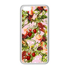 Fruit Blossom Pink Apple Iphone 5c Seamless Case (white)
