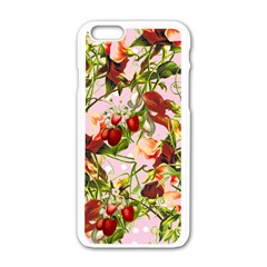 Fruit Blossom Pink Apple Iphone 6/6s White Enamel Case