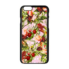 Fruit Blossom Pink Apple Iphone 6/6s Black Enamel Case