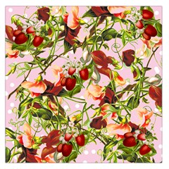 Fruit Blossom Pink Large Satin Scarf (square)
