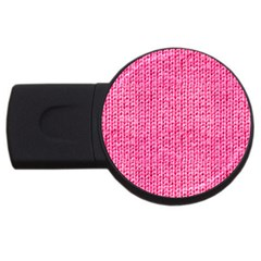 Knitted Wool Bright Pink Usb Flash Drive Round (2 Gb)