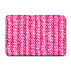 Knitted Wool Bright Pink Small Doormat