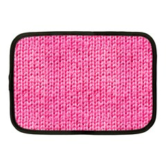 Knitted Wool Bright Pink Netbook Case (medium)
