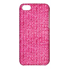 Knitted Wool Bright Pink Apple Iphone 5c Hardshell Case