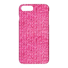 Knitted Wool Bright Pink Apple Iphone 7 Plus Hardshell Case