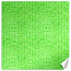Knitted Wool Neon Green Canvas 16  X 16