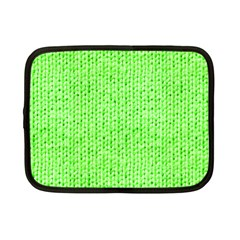 Knitted Wool Neon Green Netbook Case (small)