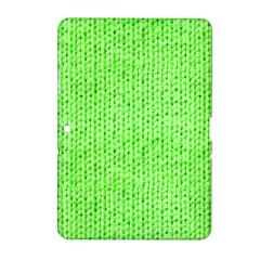 Knitted Wool Neon Green Samsung Galaxy Tab 2 (10 1 ) P5100 Hardshell Case