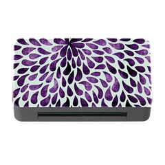 Purple Abstract Swirl Drops Memory Card Reader With Cf