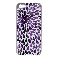 Purple Abstract Swirl Drops Apple Iphone 5 Case (silver)