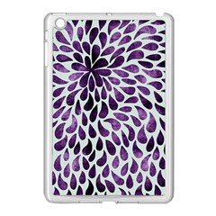 Purple Abstract Swirl Drops Apple Ipad Mini Case (white)