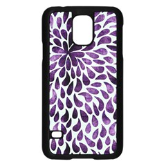 Purple Abstract Swirl Drops Samsung Galaxy S5 Case (black)