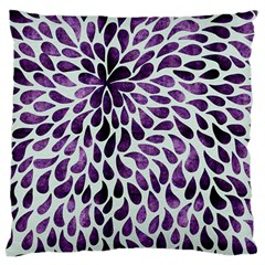 Purple Abstract Swirl Drops Standard Flano Cushion Case (two Sides)