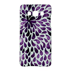 Purple Abstract Swirl Drops Samsung Galaxy A5 Hardshell Case