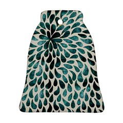 Teal Abstract Swirl Drops Ornament (bell)